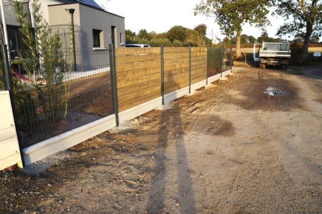 clôture bois et aluminium