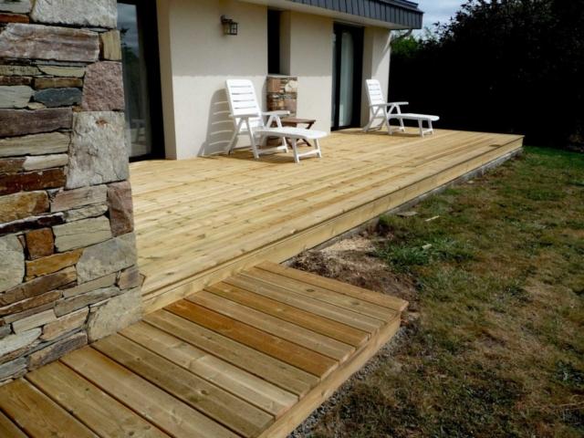 terrasse en bois de pin